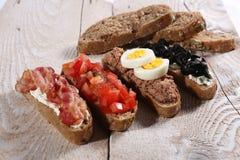 Bruschetta-Brot lizenzfreies stockbild