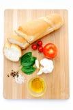 Bruschetta (Brushetta) ingredients Royalty Free Stock Photos
