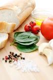 Bruschetta (Brushetta) ingredients Stock Photography