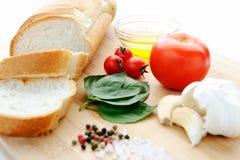 Bruschetta (Brushetta) ingredients Stock Photo