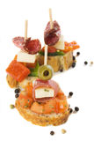 Bruschetta, bufete frio italiano Imagens de Stock Royalty Free
