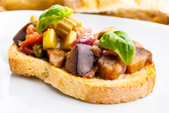 Bruschetta caponata Royalty Free Stock Photography