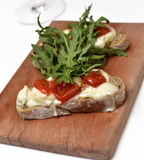 Bruschetta with cheese Royalty Free Stock Photos