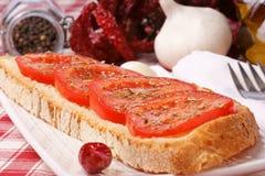 bruschetta chili pieprzu pomidor Zdjęcie Royalty Free