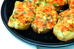 Bruschetta Closeup Stock Images