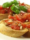 Bruschetta, closeup Stock Photography