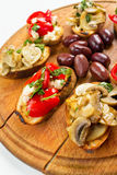 Bruschetta Closeup Royalty Free Stock Photography