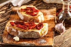 Bruschetta com tomate imagens de stock royalty free