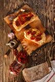 Bruschetta com tomate fotografia de stock royalty free