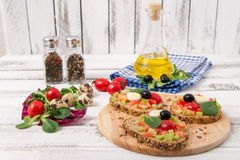 Bruschetta com tomate Foto de Stock Royalty Free