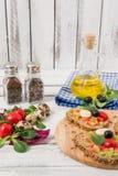 Bruschetta com tomate Fotos de Stock