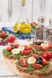 Bruschetta com tomate Imagens de Stock