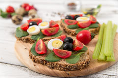 Bruschetta com tomate Fotos de Stock Royalty Free