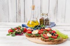 Bruschetta com tomate Imagem de Stock