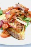 Bruschetta com tomates cortados Imagens de Stock Royalty Free