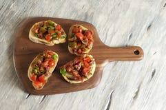 Bruschetta del tomate y del perejil Imagen de archivo