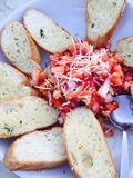 Bruschetta. Fresh tomato bread food Stock Photo
