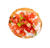 Bruschetta with fresh tomatoes Royalty Free Stock Photos
