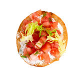 Bruschetta with fresh tomatoes and lettuce Stock Images