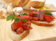 Bruschetta in front Stock Image