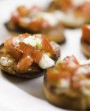 Bruschetta group on white Royalty Free Stock Photo