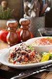 Bruschetta höna med ris Royaltyfria Bilder