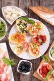 Bruschetta and ingredient Stock Photos