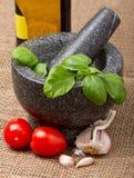 Bruschetta ingredients Stock Photography