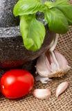 Bruschetta ingredients Stock Image