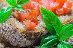 Bruschetta italiana Fotografia Stock