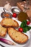 Bruschetta italiano Foto de Stock