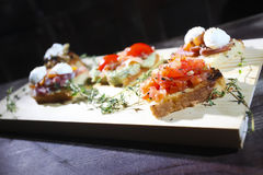 Bruschetta italiano Imagem de Stock Royalty Free