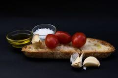 Bruschetta italiano da culinária e do alimento Fotos de Stock