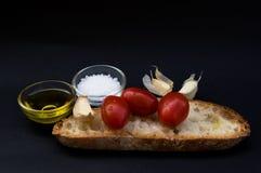 Bruschetta italiano da culinária e do alimento Foto de Stock Royalty Free