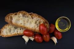Bruschetta italiano da culinária e do alimento Fotos de Stock Royalty Free