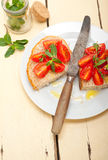 Bruschetta italiano do tomate Imagem de Stock