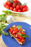 Bruschetta italien Photos stock