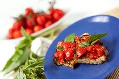 Bruschetta italien Image stock