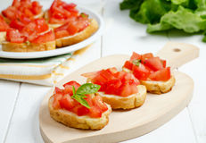 Bruschetta med tomaten Royaltyfria Foton