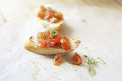 Bruschetta med tomater Royaltyfri Foto