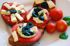 Bruschetta med tomater Royaltyfria Foton