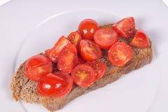 Bruschetta med tomater och olja Royaltyfri Foto