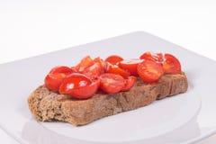 Bruschetta med tomater och olja Royaltyfria Bilder