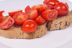 Bruschetta med tomater och olja Royaltyfri Bild