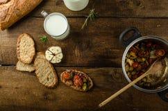 Bruschetta with Mediterranean vegetables Royalty Free Stock Image