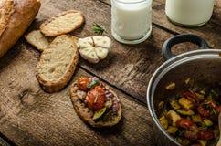 Bruschetta with Mediterranean vegetables Stock Image