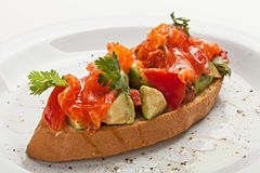 Bruschetta na placa Fotografia de Stock Royalty Free