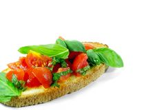Bruschetta Over White Royalty Free Stock Images