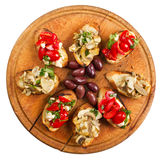 Bruschetta Overhead Royalty Free Stock Photography