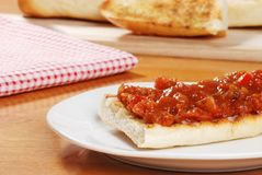 Bruschetta on a plate Royalty Free Stock Photos